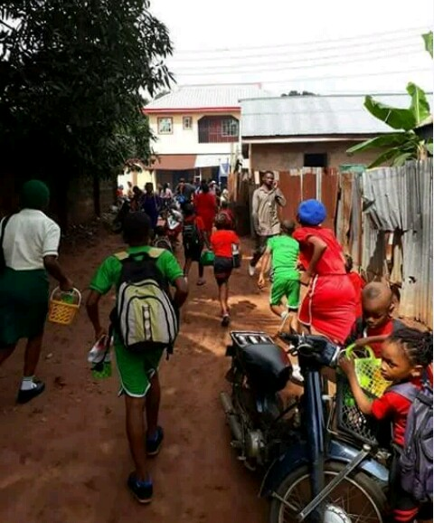 NIGERIA SOLDIERS  FORCING CHILDREN TO TAKE THEIR INJECTION  IN NNEWI