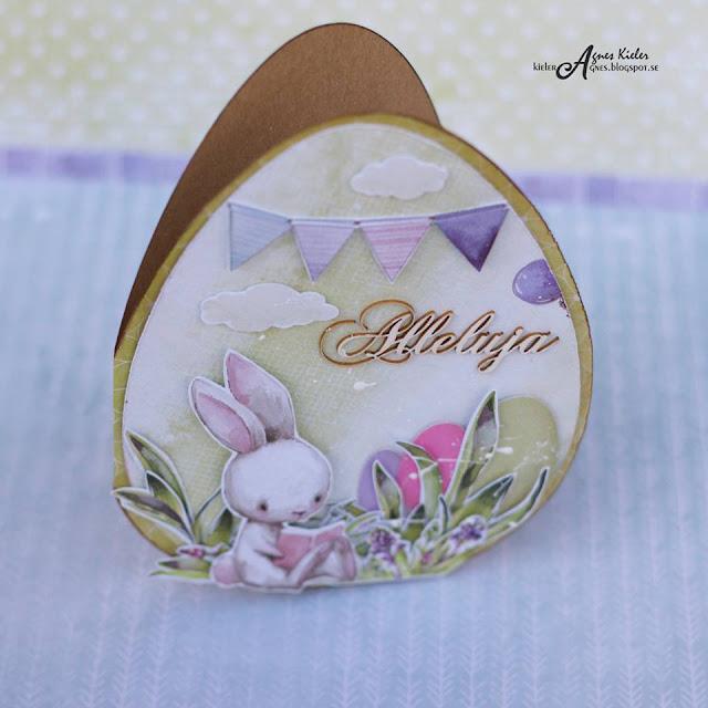 kartka z zajączkiem z kolekcji Spring Bustling