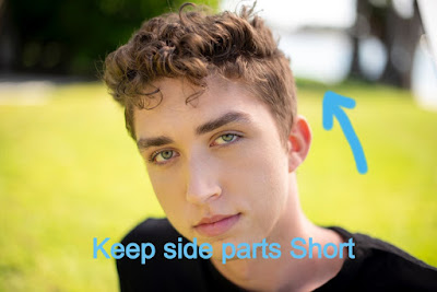 curly hairstyle for man can be look best when side parts are kept short in Curly Haircut for man