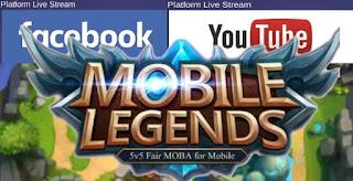 Cara Live Streaming Mobile Legends di Facebook dan Youtube
