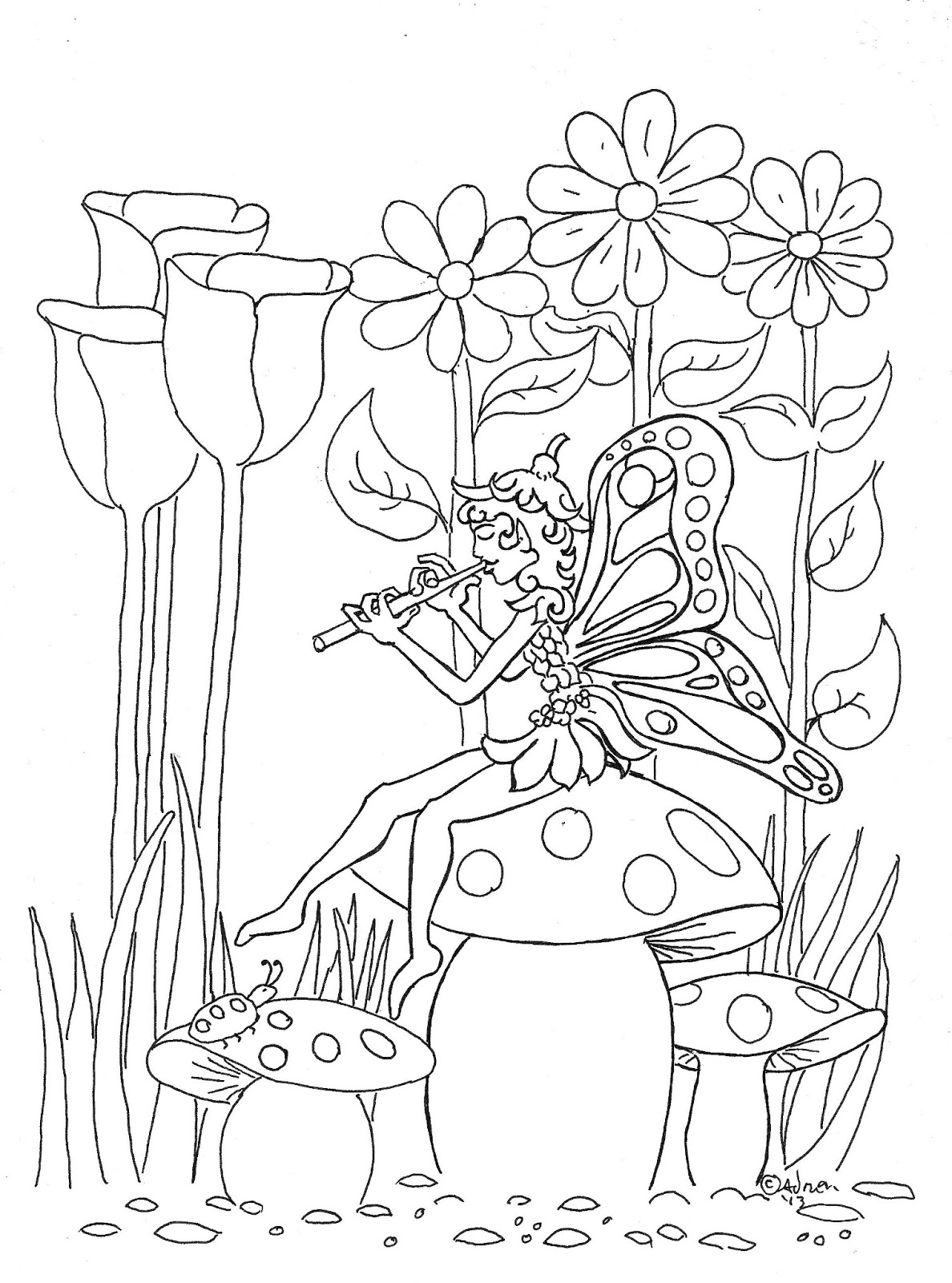Coloring Pages for Kids by Mr. Adron: Pixie Fairy Print ...