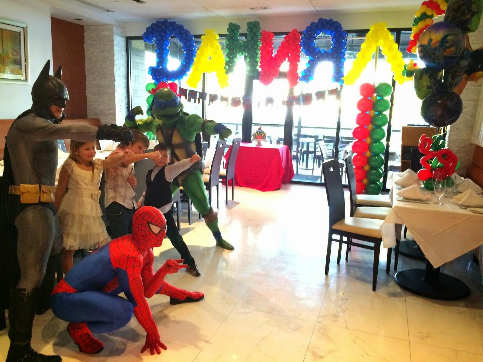 Batman Spiderman Ninja Turtle Characters Entertainment