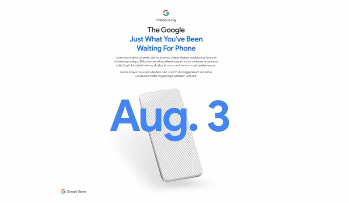 Google announces the upcoming release date of Pixel 4A