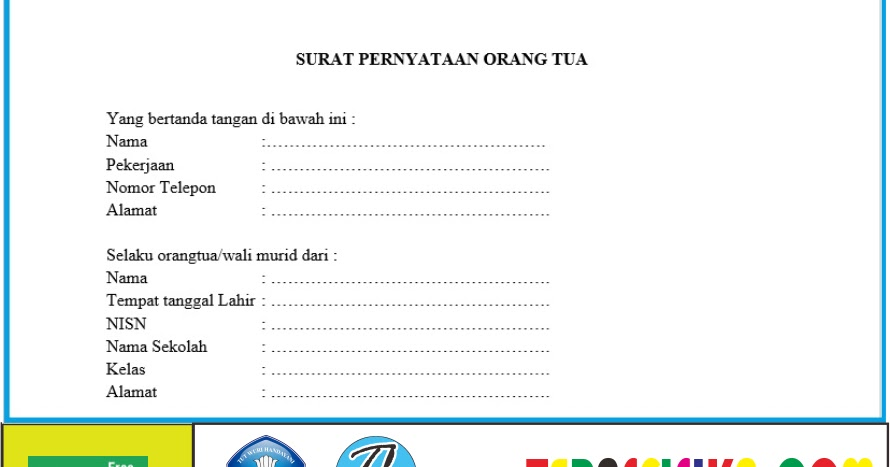 Contoh Format Surat Izin Orang Tua Untuk Siswa Mengikuti Kbm Tatap Muka Di Sekolah Teras Fisika