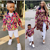 Wizkid's Second Son Steps Out In Matching Outfits With His Mum