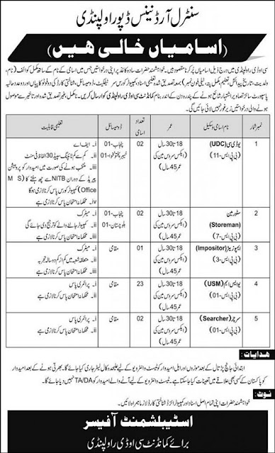 pakistan-army-central-ordnance-depot-cod-rawalpindi-jobs-2020-advertisement