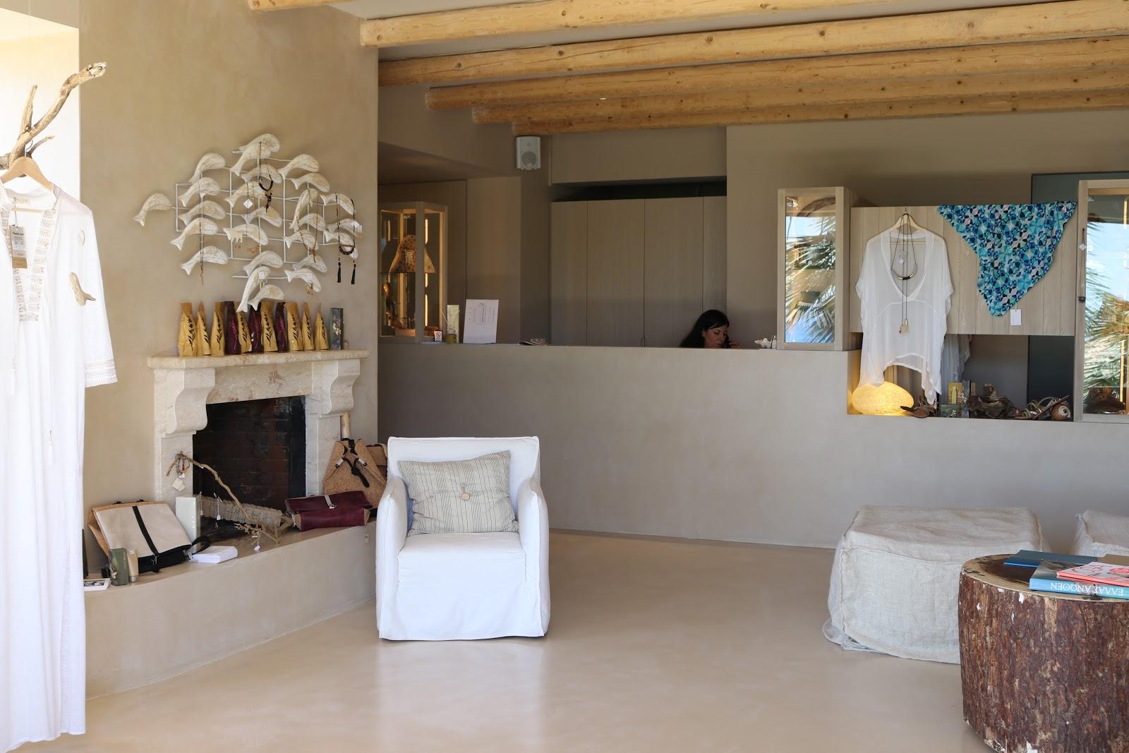 Reception Area, F Zeen Resort, Unique Villas, Kefalonia