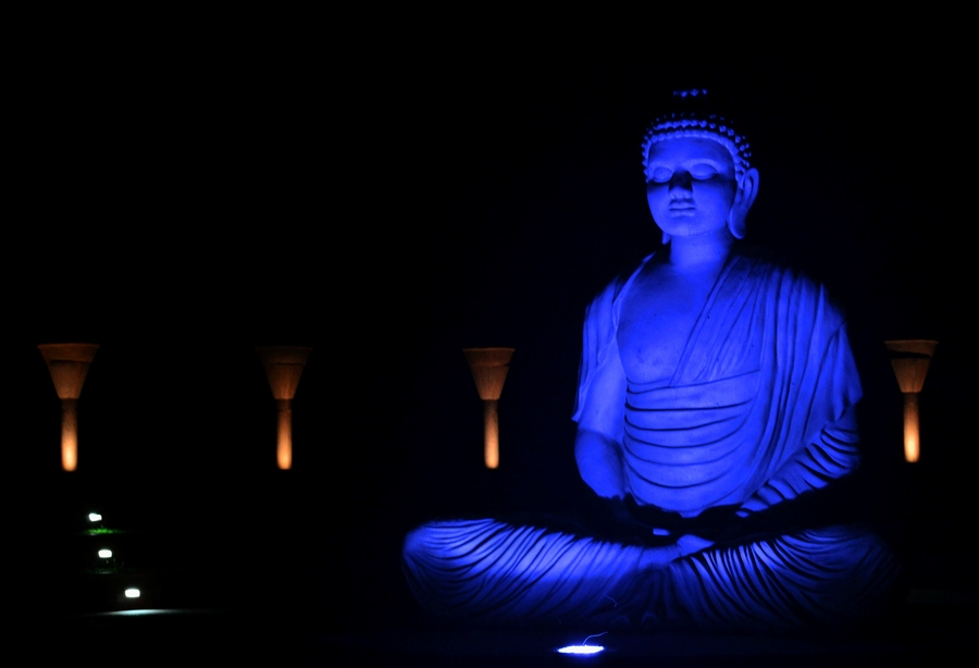 Nice Wallpapers With Quotes About Life In Hindi Buddha Quotes Online Lord Buddha Blue Statue Image