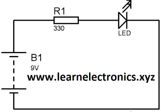 9 volt battery 4 volt led circuit