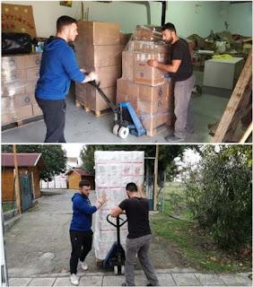 Αποστολή σημαντικής βοήθειας στους πλημμυροπαθείς της Μάνδρας Αττικής