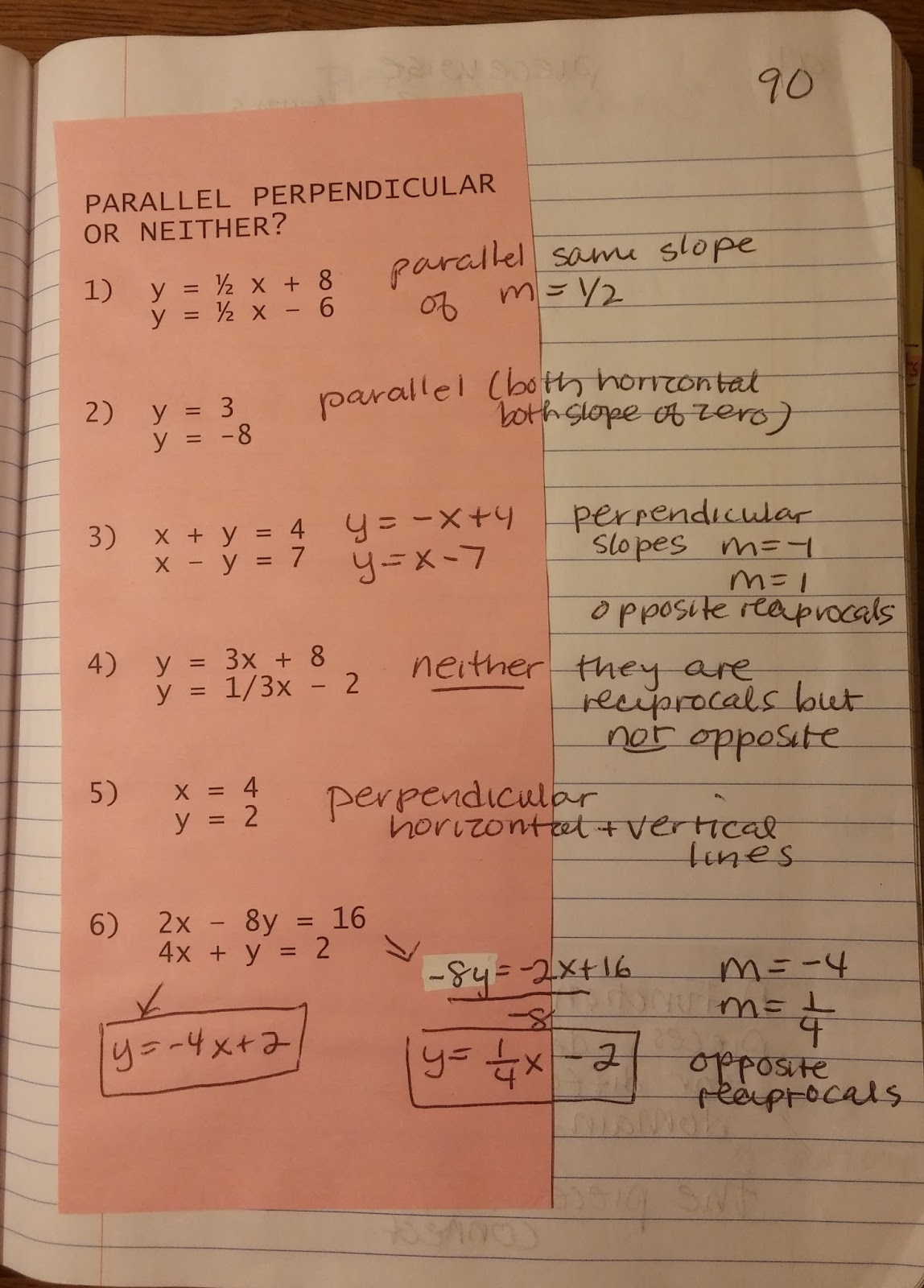 Beautiful Math Parallel And Perpendicular Lines