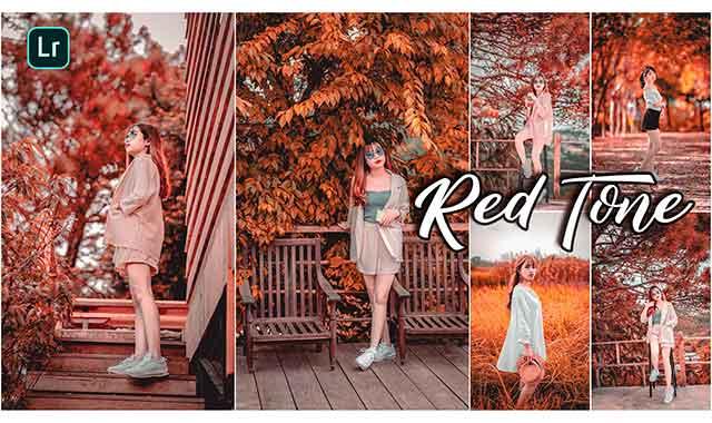 Red tone lightroom Presets