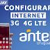 Configurar Internet APN 3G/4G LTE Antel Uruguay 2019