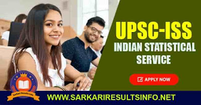 UPSC ISS Indian Statistical Service Apply Online 2020