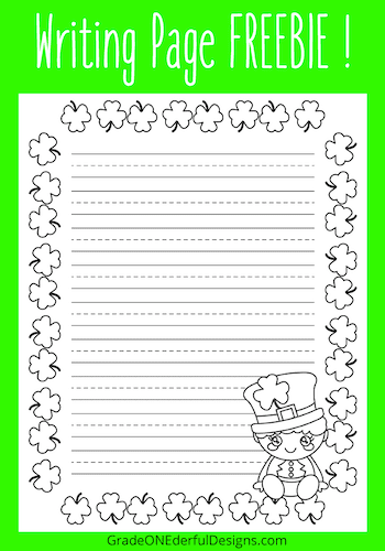 St. Patrick's Day Writing Paper -- Free