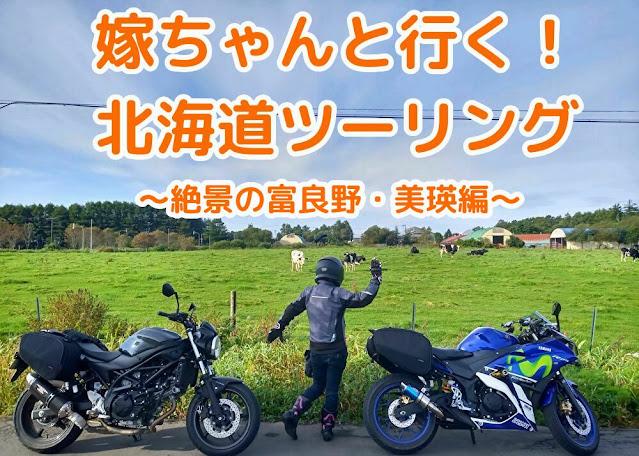北海道ツーリング YZF-R25 SV650ABS 嫁ちゃん