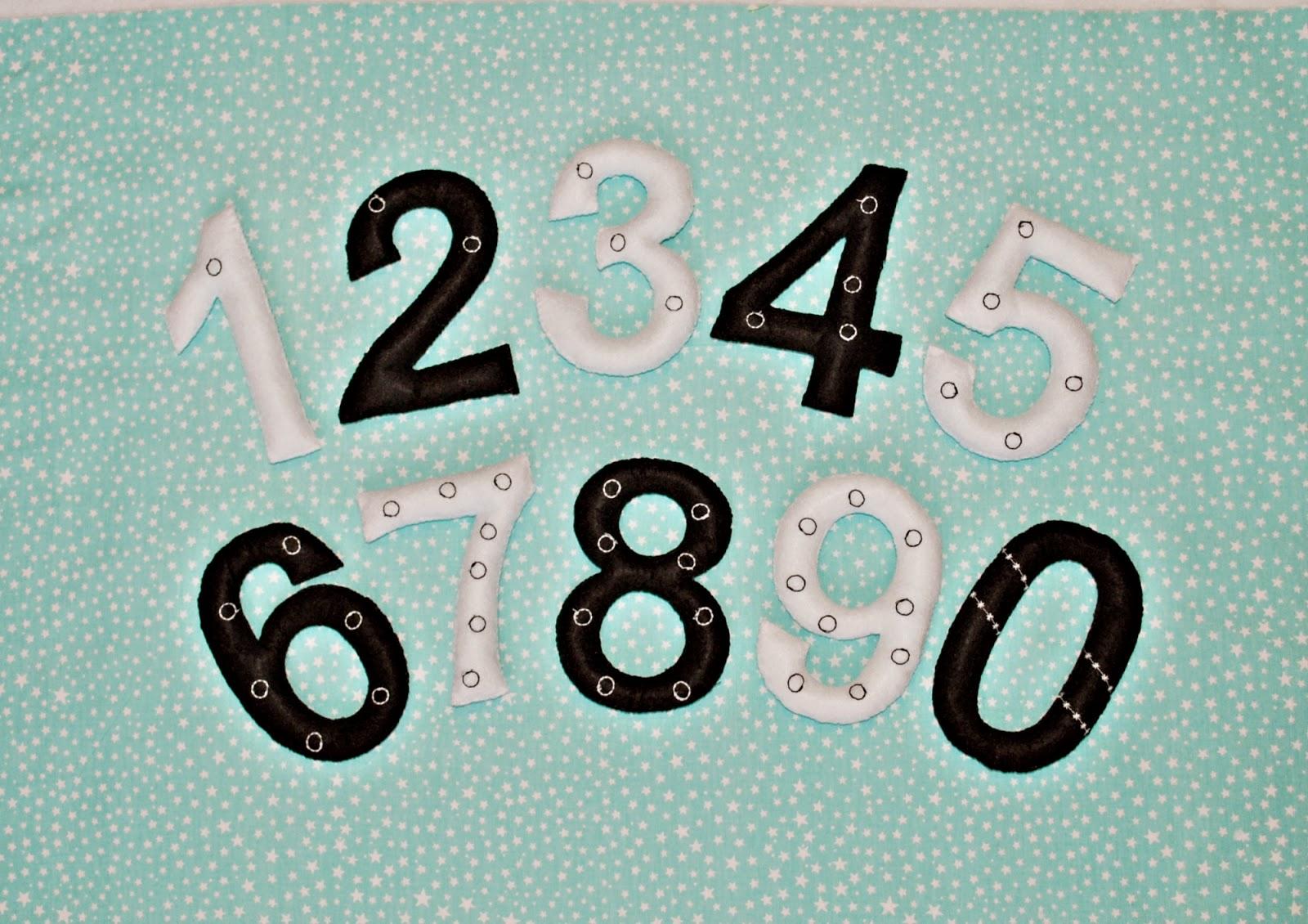 наборы цифр из фетра