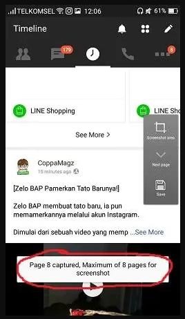 Cara Screenshot Panjang di HP Oppo
