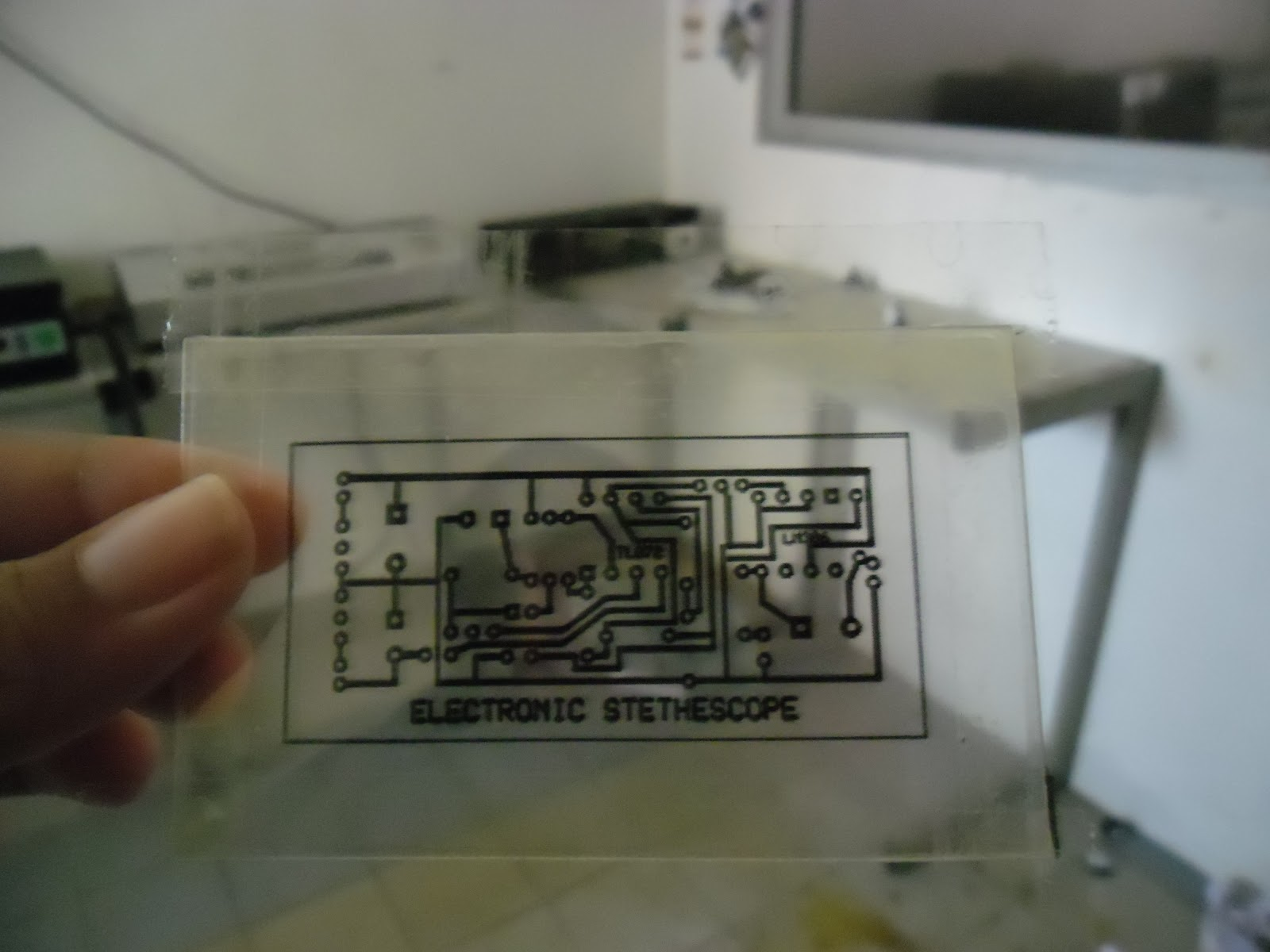 Etched Copper Circuit Board