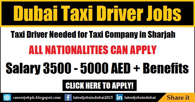 Dubai Taxi Driver Jobs and Careers in Sharjah