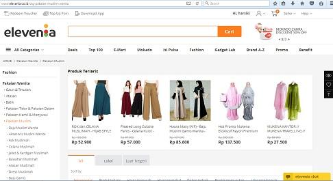 Tempat Mencari Baju Muslim di Elevenia
