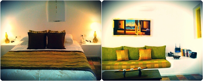 Dreams Luxury Suites- bedroom and living room