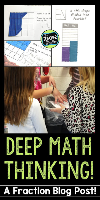 Build deep fraction understanding, explain math thinking, critiquing reasoning, fraction misconceptions, fraction lessons, fraction resources, fraction activities, fraction unit, teaching fractions, grade 3, grade 4, grade 5, equivalent fractions, standards for mathematical practice, fourth grade fractions, third grade fractions