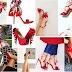 Czerwone szpilki, czerwone buty na obcasie. Najbardziej kobiece buty świata. Czerwone buty do ślubu. Galeria, moje inspiracje.