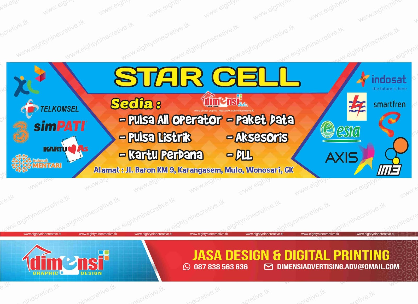 Download Desain Spanduk Counter HP Vector CDR - DIMENSI ...