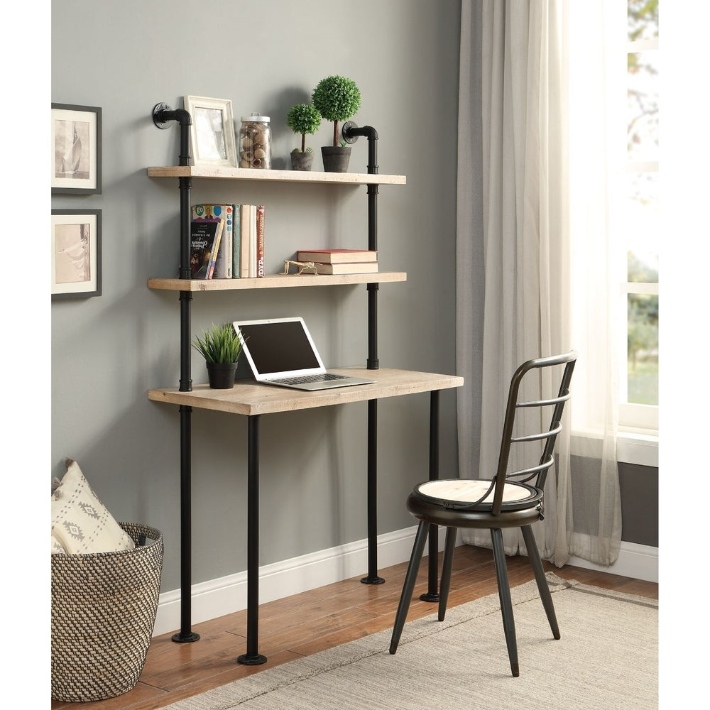 wall bookcase desk