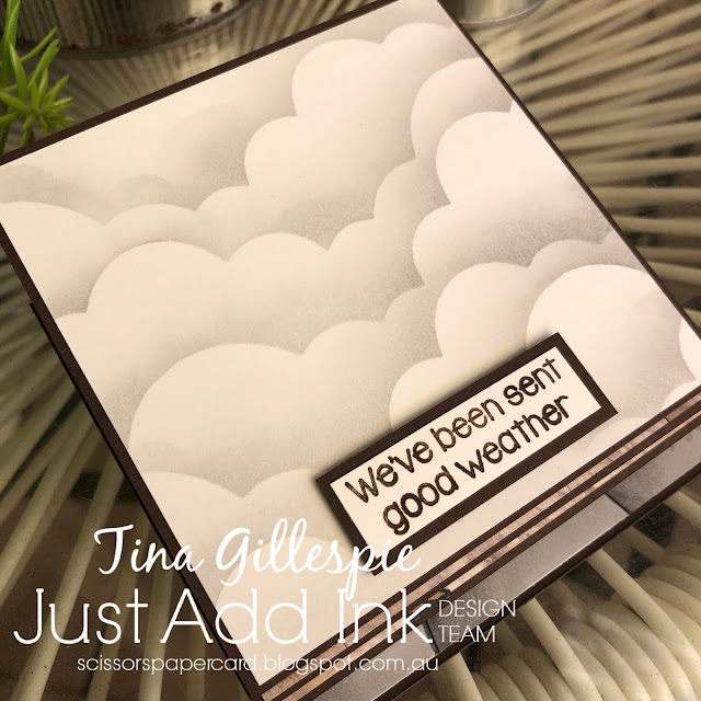 scissorspapercard, Stampin' Up!, Kindred Stamps, Just Add Ink, Strong Maiden, In Good Taste DSP, Rainbow Builder Dies, Stampin' Blends