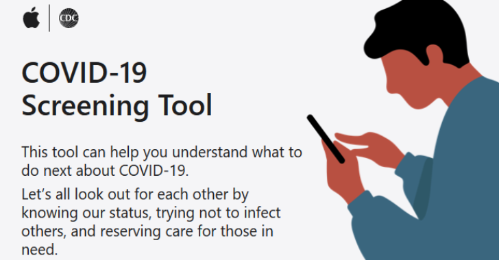 Apple Releases COVID-19 Screening App Website