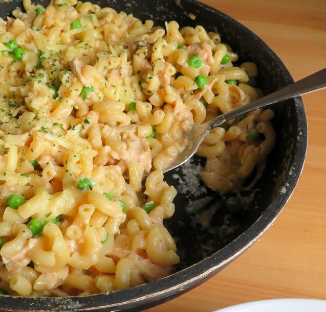 Cheesy Tuna Skillet Pasta