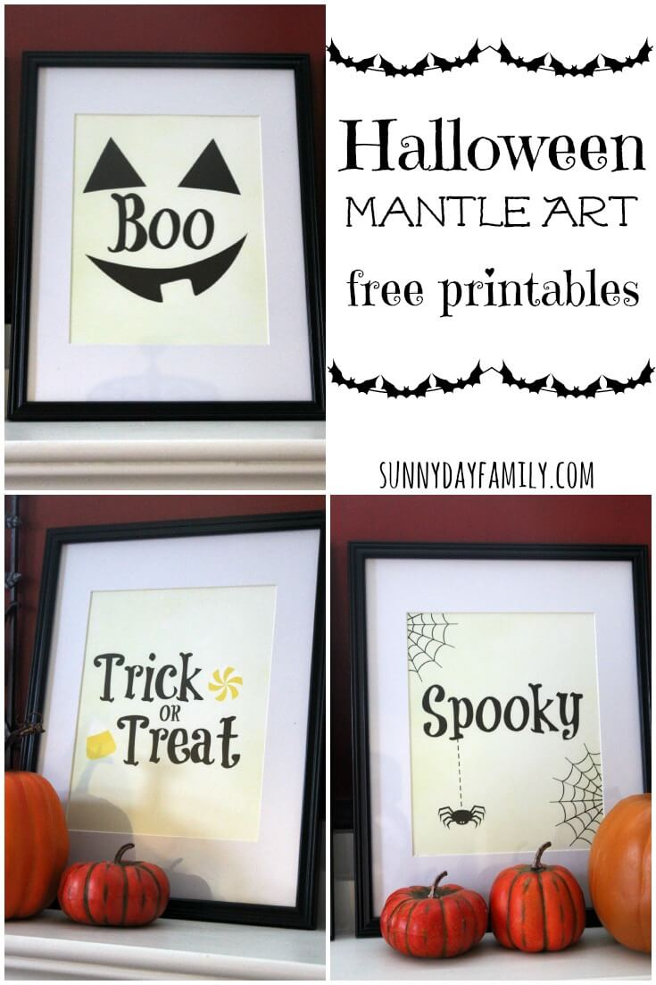 Free Printable Halloween Decorations For Your Mantle Or