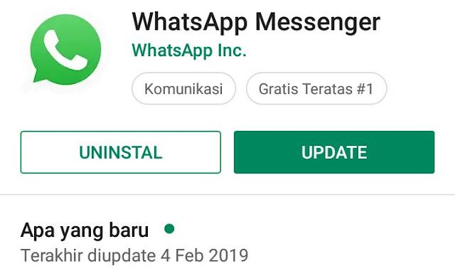 Whatsapp minta update tapi memori penuh? Ini Solusinya