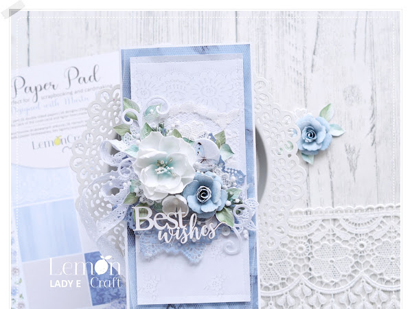 Best Wishes Card with Handmade Flowers