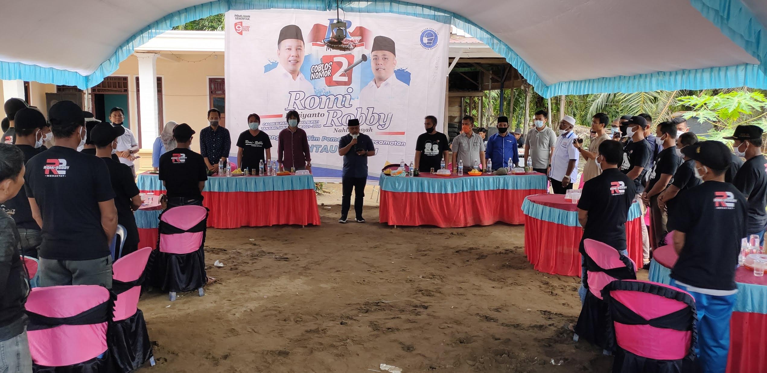 Tim Pemenangan R2 di Rantau Rasau Dikukuhkan di Tiga Lokasi