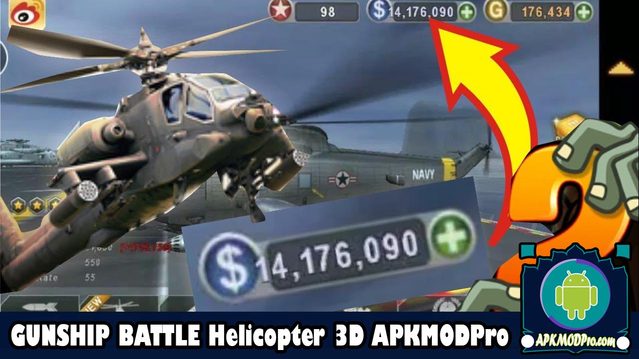 Download Gunship Battle Helicopter 3D MOD APK v2.7.43 (Unlimited Money) Terbaru 2020