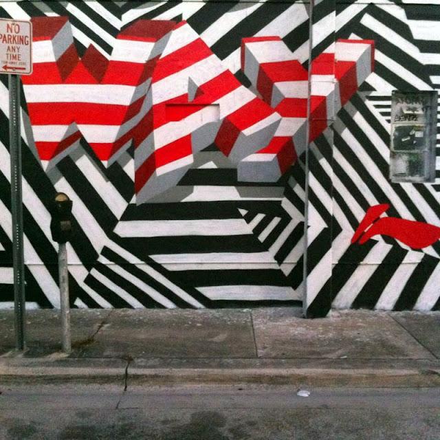 """Make Your Own Way"" New Street Art Piece by British Urban Artist INSA for Art Basel Miami 2013. 6"