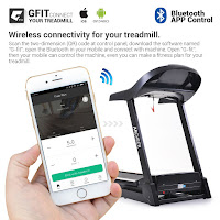 Connect your mobile phone via Bluetooth with GFit app to control Ancheer Folding Electric Treadmill