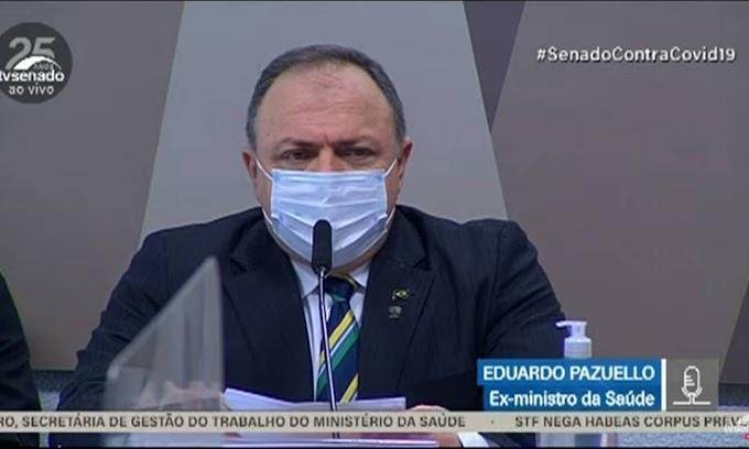 Acompanhe o depoimento do ex-ministro Eduardo Pazuello na CPI da Covid