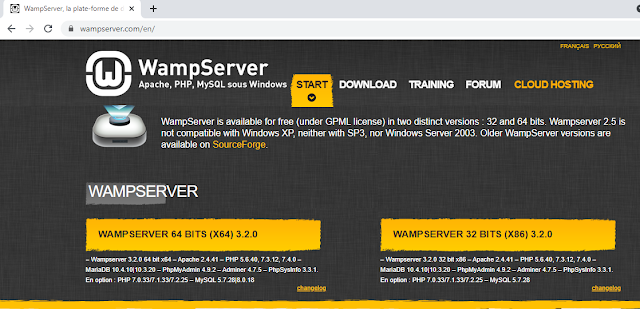 go to wamp server download page