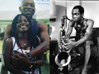 Seun Kuti, his girlfriend & Late Fela Kuti