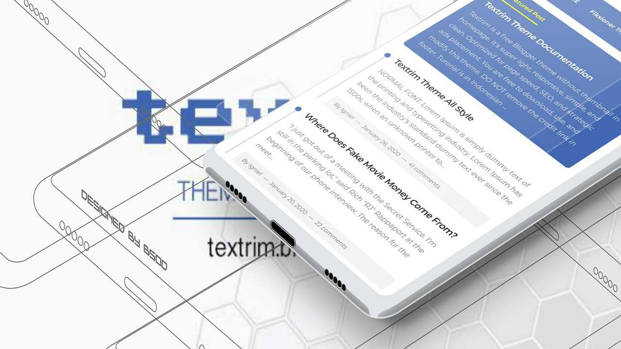 Download Textrim v3 Blogger Template - DhykaShare