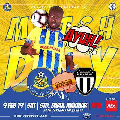 Live Streaming Pahang vs Terengganu Liga Super 9.2.2019