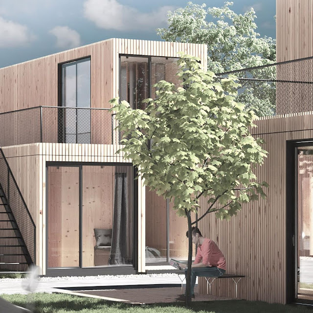 Shipping Container Tiny Homes Village, Germany 25