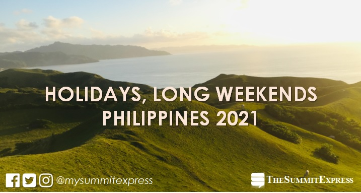 LIST: 2021 Holidays, Long Weekends in the Philippines