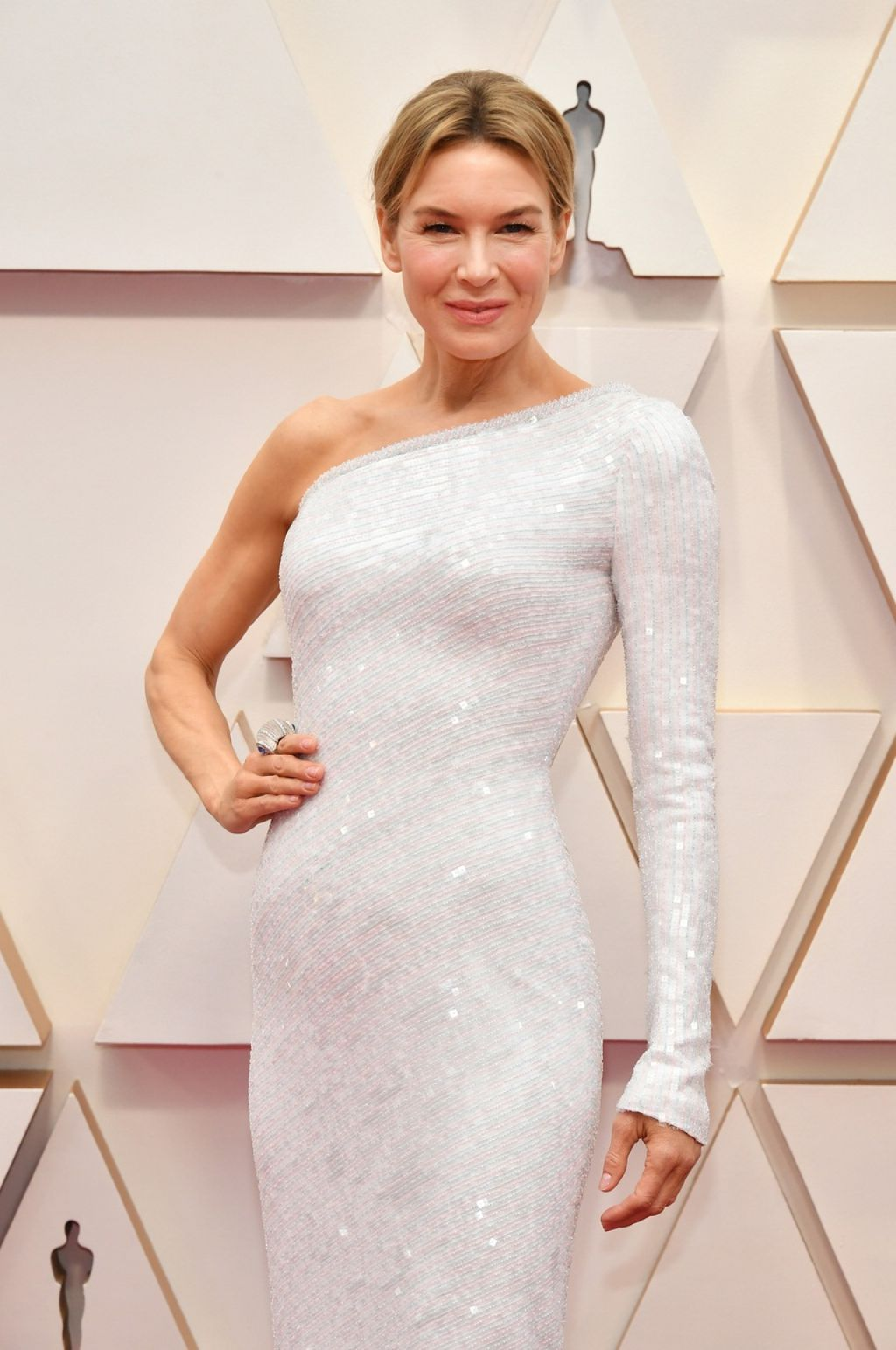 Renee Zellweger highlights hourglass curves in Armani Prive at the 2020 Oscars
