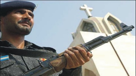 sargodha-police-strengthened-the-security-of-churches-کوئٹہ چرچ پر حملے کے بعد سرگودھا میں مسیحی عبادت گاہوں کی سیکورٹی مزید سخت کردی گئی