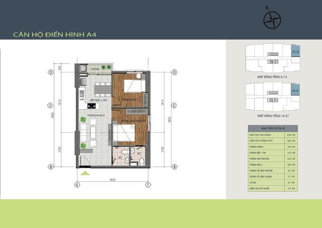 Thiết kế căn hộ A4 Hồng Hà Tower